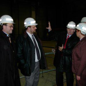 SPD-Delegation im Kraftwerk Niederaußem