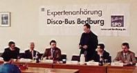 Foto von der Disco-Bus Anhörung