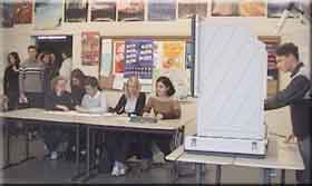 Klassenraum, in dem die Juniorwahl stattfindet