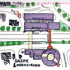 Ideenskizze zur Lindengalerie