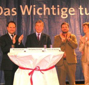 Bernhard Hadel, Wolfgang Clement, Guido van den Berg, Heike Steinhäuser