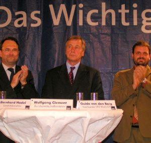 Bernhard Hadel, Wolfgang Clement, Guido van den Berg