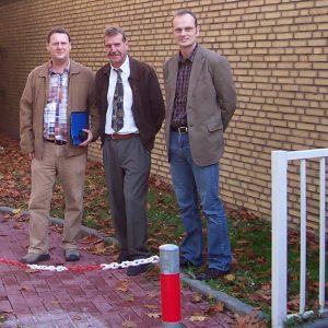 Matthias Rosemann (Ratsmitglied), Herr Naujock (Stadt Bedburg), Herr Bohmann (Vorsitzender Schulpflegschaft)