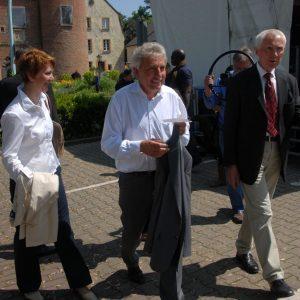 Heike Steinhäuser gemeinsam mit Jürgen Roters und Landsratskandidat Hans Krings (re.)