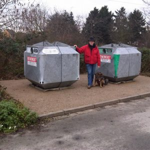Glascontainer in Blerichen in neuem Glanz